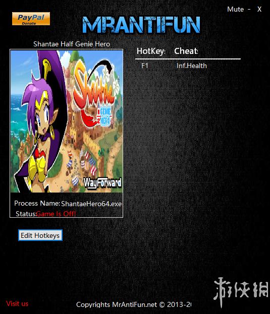 桑塔:半精靈英雄(Shantae: Half-Genie Hero)v1.0一項修改器MrAntiFun版[64位版]