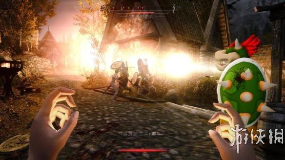上古卷軸5:天際重制版(The Elder Scrolls V: Skyrim Special Edition)超級瑪麗的最終boss噴火龍鮑澤隨從MOD
