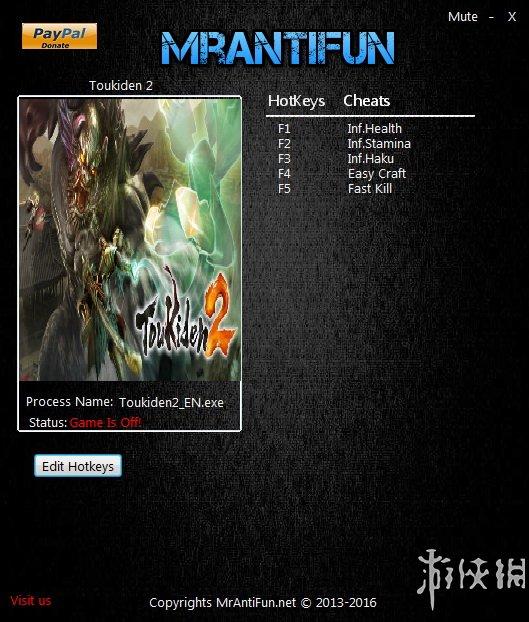 討鬼傳2(Toukiden 2)v1.00五項修改器MrAntiFun版