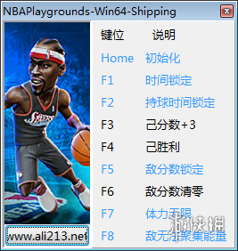 NBA遊樂場(NBA Playgrounds)v1.0.3八項修改器[更新1]