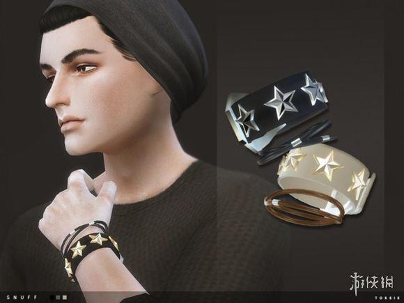 模擬市民4(The Sims 4)男士黑金雙色五星手鏈MOD