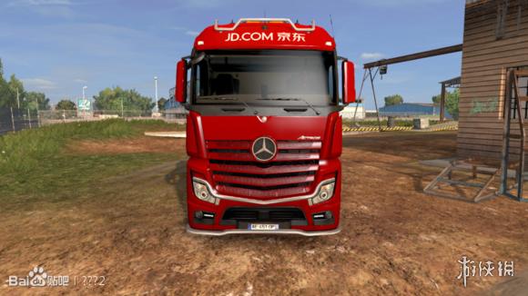 歐洲卡車類比2(Euro Truck Simulator 2)v1.24-1.28京東物流卡車MOD