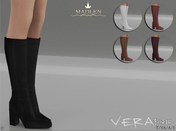 模擬市民4(The Sims 4)v1.31Madlen Vera 簡約高跟長筒靴MOD