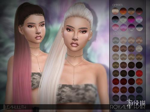 模擬市民4(The Sims 4)v1.31Royalty女式超長高扎單馬尾MOD