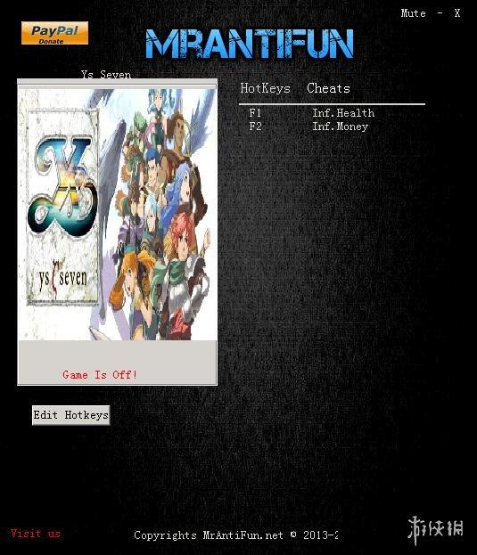 伊蘇7(Ys Seven)v1.0兩項修改器Mrantifun版