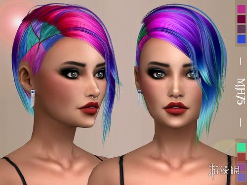 模擬市民4(The Sims 4)v1.31女式小彩馬彩毛發型MOD
