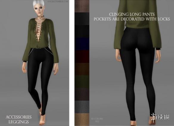 模擬市民4(The Sims 4)v1.31女式性感緊身長皮褲MOD