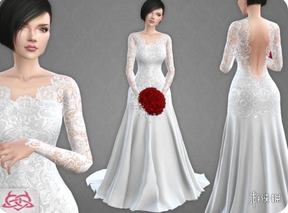 模擬市民4(The Sims 4)v1.31Urbanos10號長擺婚紗MOD