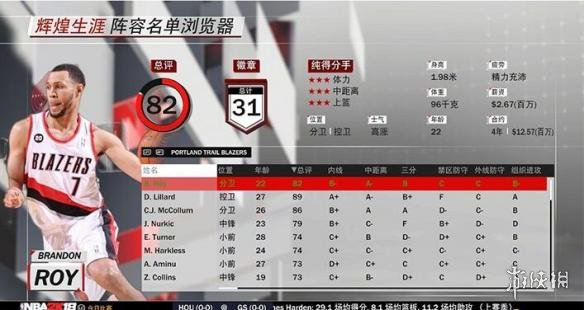 NBA 2K18(NBA 2K18)黃曼巴布蘭頓羅伊MC模式存檔