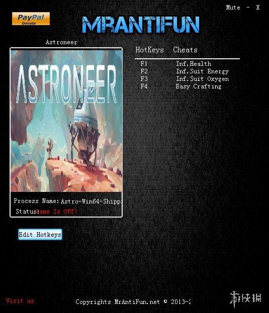 異星探險家(Astroneer)v0.4.10215四項修改器Mrantifun版