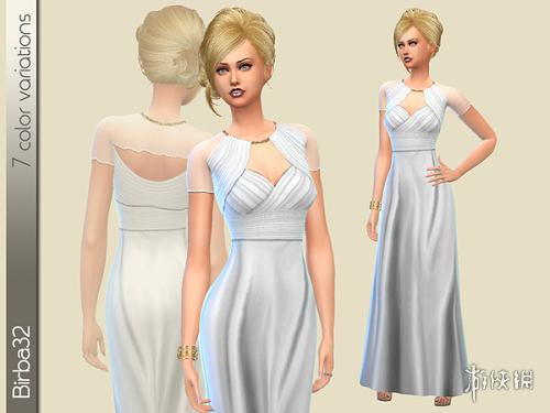 模擬市民4(The Sims 4)v1.31女士复古風禮服長裙MOD