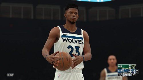 NBA 2K18(NBA 2K18)森林狼隊巴特勒身形發型面補MOD