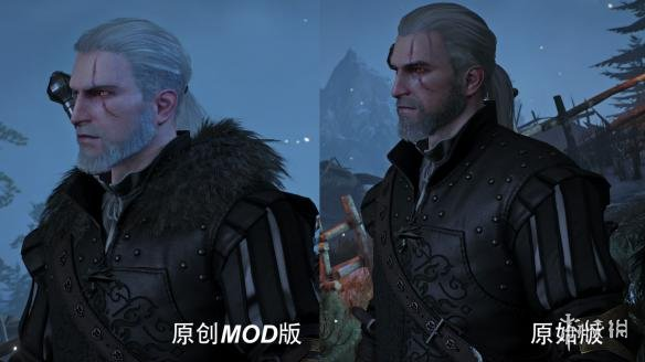 巫師3:狂獵(The Witcher 3: Wild Hunt)v1.31傑洛特和葉奈法高清面部重置MOD