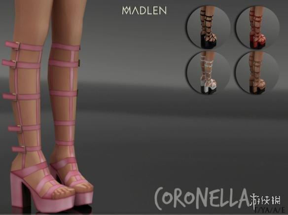 模擬市民4(The Sims 4)v1.31女士厚底高跟皮帶涼鞋MOD