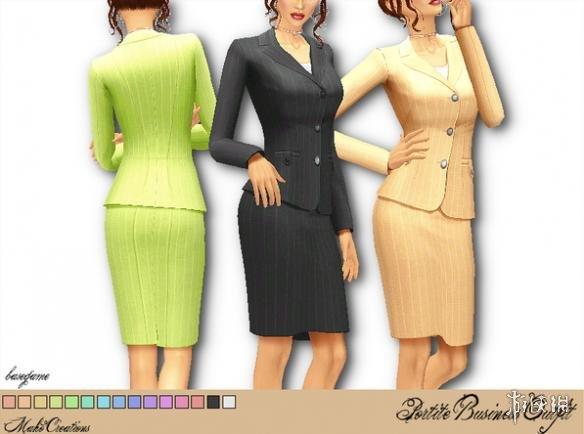 模擬市民4(The Sims 4)v1.31女式商務裹裙職業套裝MOD