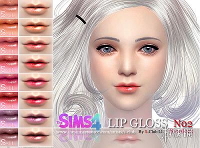 模擬市民4(The Sims 4)清淡色光亮可愛水潤唇膏MOD