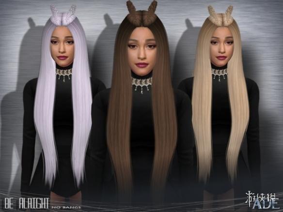 模擬市民4(The Sims 4)女士兔耳無劉海中分長直發MOD