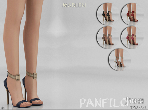 模擬市民4(The Sims 4)v1.31氣質金屬扣高跟涼鞋MOD