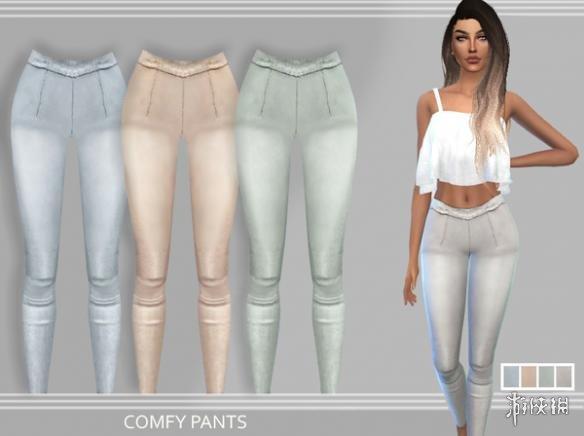 模擬市民4(The Sims 4)v1.31女士褶皺休閒緊身褲MOD