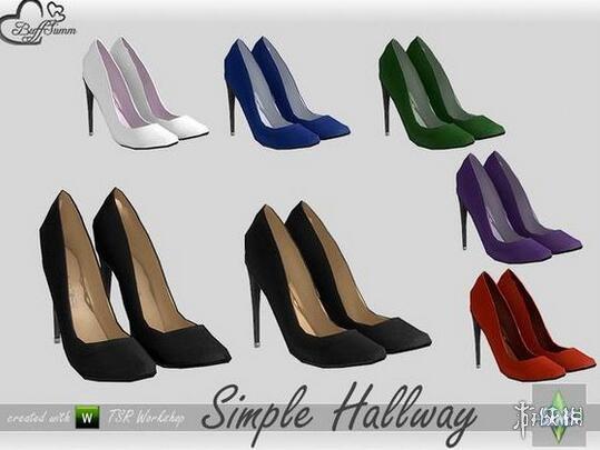 模擬市民4(The Sims 4)七色簡約裝飾高跟鞋MOD