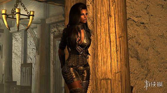 上古卷軸5:天際重制版(The Elder Scrolls V: Skyrim Special Edition)魅惑交叉系帶束身皮衣MOD