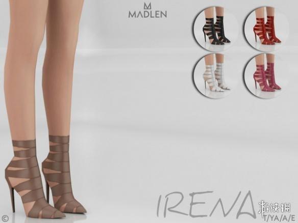 模擬市民4(The Sims 4)v1.31Irena女士木乃伊繃帶皮質尖頭高跟鞋MOD