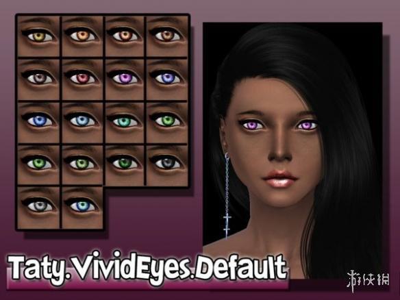 模擬市民4(The Sims 4)Vivid漫畫風格小瞳孔熒光色眼睛包MOD