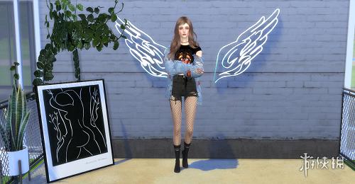 模擬市民4(The Sims 4)v1.33自制超萌天使女孩小二MOD
