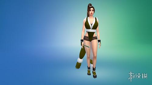 模擬市民4(The Sims 4)性感禦姐不知火舞套裝MOD