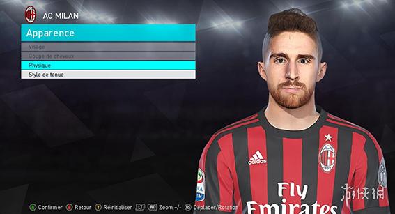 世界足球競賽2018(Pro Evolution Soccer 2018)AC米蘭前鋒博裡尼面部補丁