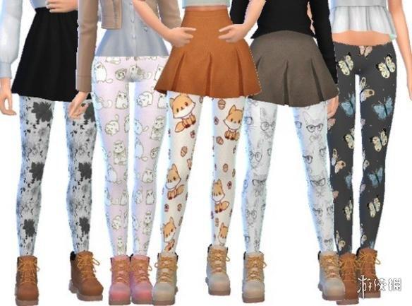 模擬市民4(The Sims 4)v1.31女士可愛湯博卡通碎花打底褲MOD