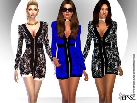 模擬市民4(The Sims 4)v1.31維密天使外裝拉絲小短裙MOD
