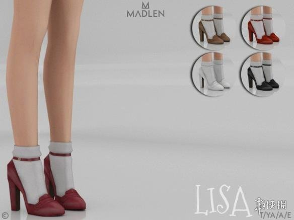 模擬市民4(The Sims 4)v1.31Lisa女士經典复古小圓頭高跟皮鞋MOD