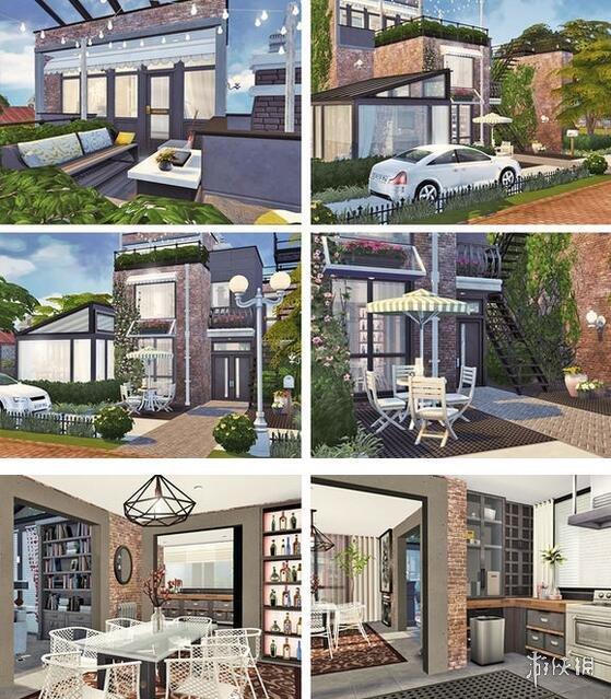 模擬市民4(The Sims 4)山頂三層現代別墅MOD
