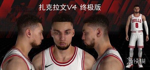 NBA 2K18(NBA 2K18)公牛隊扎克拉文最新身形MOD