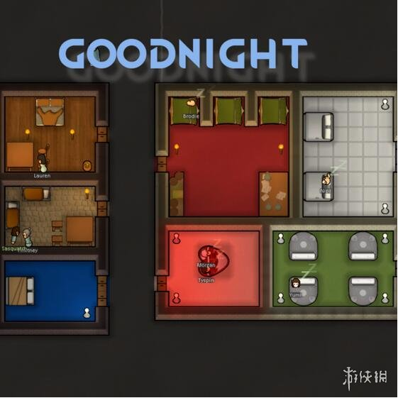 環世界(RimWorld)B18更多的床晚安MOD