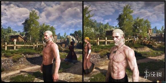 巫師3:狂獵(The Witcher 3: Wild Hunt)相貌更兇惡的真實白狼MOD