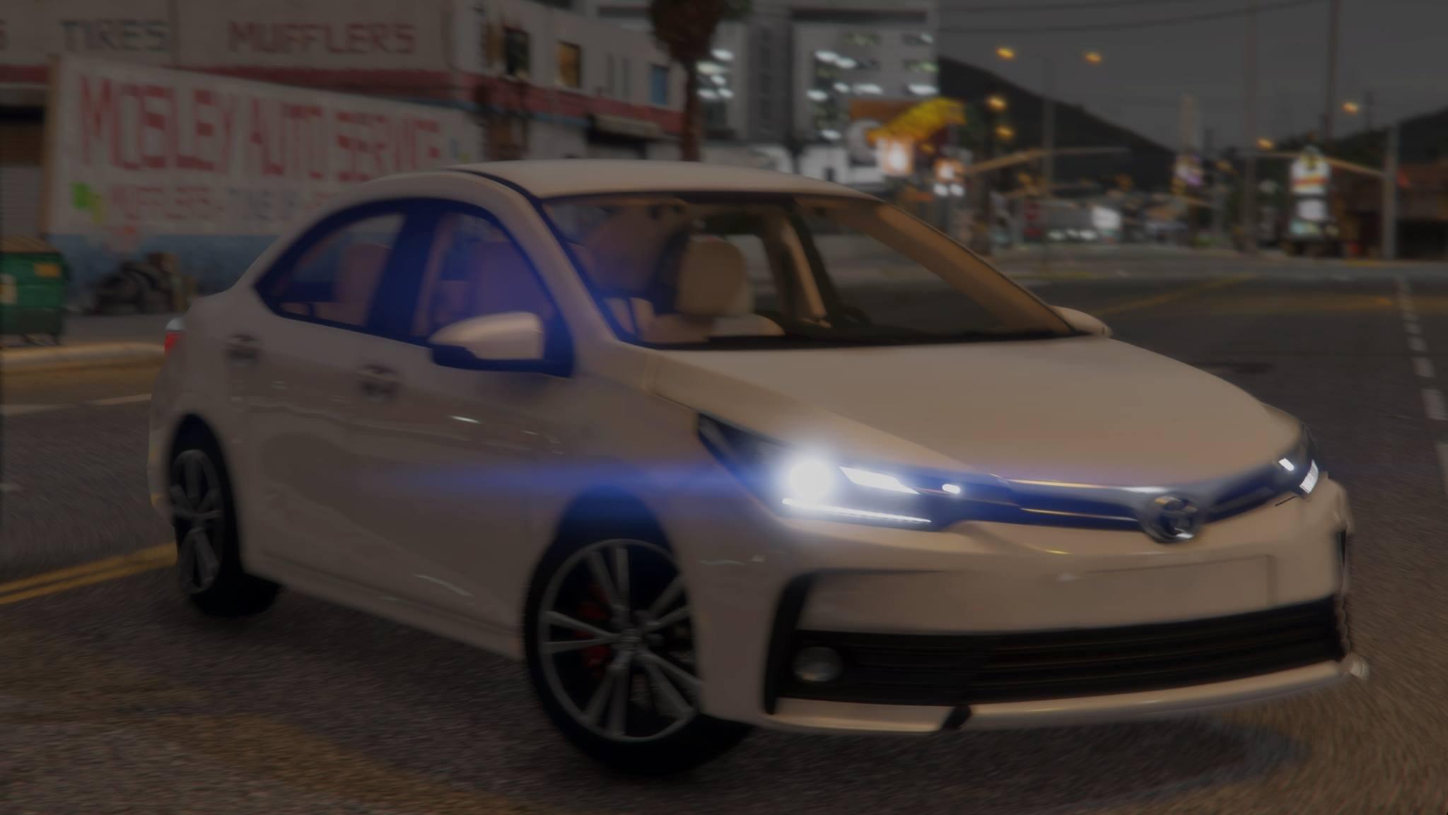 《侠盗猎车手5》2018新款丰田卡罗拉轿车MOD;18款全新丰田卡罗拉迎来全新改款,外观更加犀利,动力也大升级。新一代卡罗拉采用家族的TNGA模组化平台开发而成,得益于TNGA平台的高刚性以及轻量化特性,新车将会拥有比现款更出色的操控表现,而同时车内空间也会有所进步。车身方面,2018款丰田卡罗拉侧面采用上扬式线条十分流畅,使得车身充满运动感,新车灯组采用了全LED光源。搭载1.