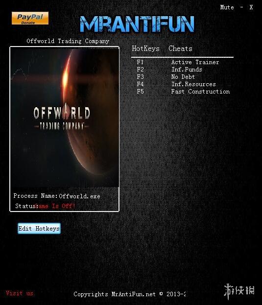 外星貿易公司(Offworld Trading Company)v1.20.20465四項修改器MrAntiFun版