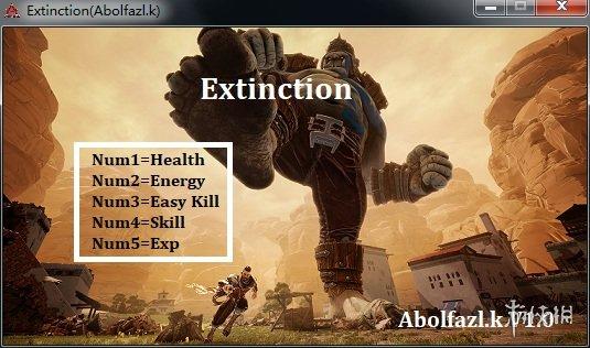 無主滅絕(Extinction)v1.0五項修改器Abolfazl.k版