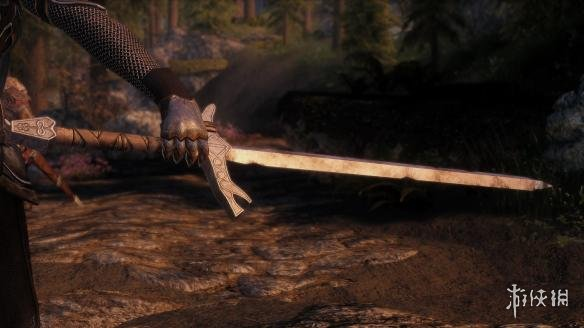 上古卷軸5:天際(The Elder Scrolls V: Skyrim)黑魂2風格的Ashen諾德長劍