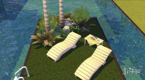 模擬市民4(The Sims 4)現代開闊式一線海景度假屋MOD