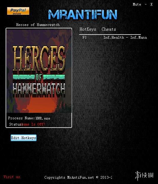 鐵錘守衛英雄(Heroes of Hammerwatch)b88兩項修改器MrAntiFun版
