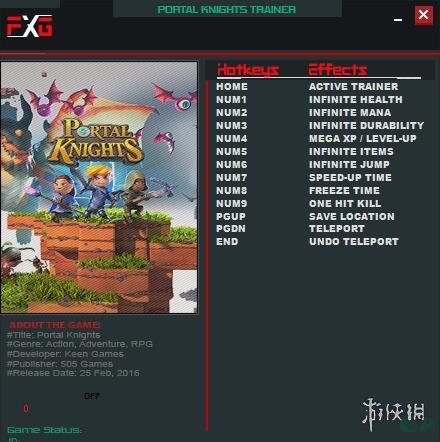 傳送門騎士(Portal Knights)v1.3.5.10十項修改器FutureX版