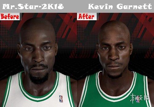 NBA 2K18(NBA 2K18)三巨頭時期賈奈特身形面補MOD