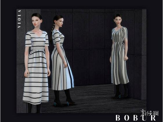 模擬市民4(The Sims 4)13款式簡潔連衣裙MOD