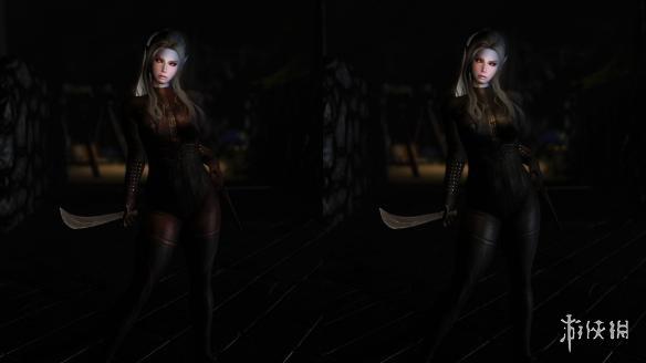 上古卷軸5:天際重制版(The Elder Scrolls V: Skyrim Special Edition)黑暗門徒套裝MOD(CBBE身型)