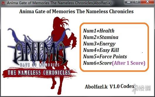 阿尼瑪:回憶之門-無名之史(Anima: Gate of Memories - The Nameless Chronicles)v1.0六項修改器Abolfazl.k版