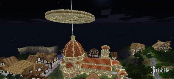 Minecraft我的世界(Minecraft)v1.7.10一時興起建的小鎮地圖MOD