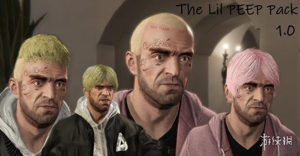 俠盜獵車手5(Grand Theft Auto 5)美國說唱歌手Lil Peep造型MOD(感謝~夏娜~提供分享)